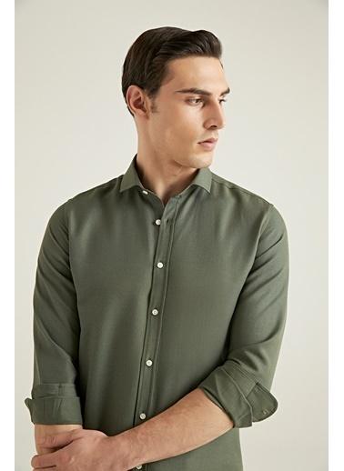 TWN Slim Fit Oxford Gömlek Haki